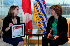 Laura Jones and Christy Clark