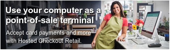 Use your computer as a point-of-sale terminal