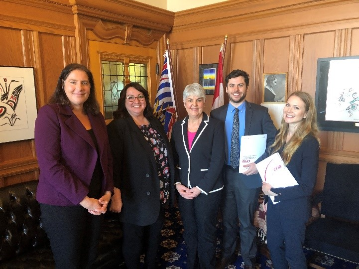 CFIB Meets with Minister James March 2019