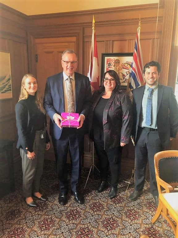 BC CFIB advocacy meeting with Minister Bruce Ralston October 2019