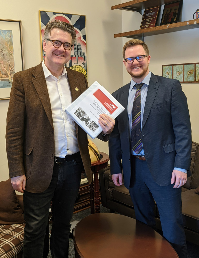 CFIB meeting with Dougald Lamont, Leader of the Manitoba Liberal Party, Manitoba Pre-Budget Meeting, February 25 2020